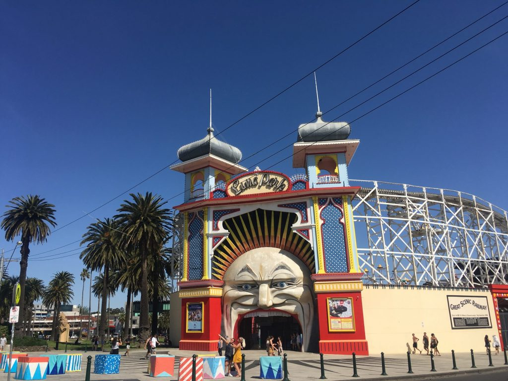 Entrance to Luna Park in Melbourne Australia