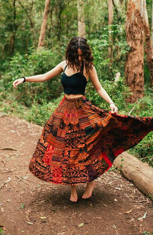 Long Hippie Skirts
