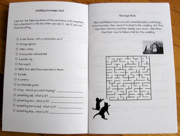 Pages 2 and 3: Scavenger Hunt and Maze