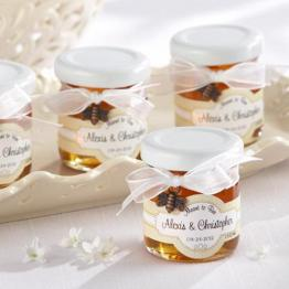 meant to bee honey favors on offbeat bride
