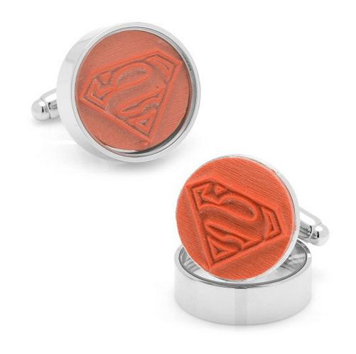 superman rubber stamp cufflinks