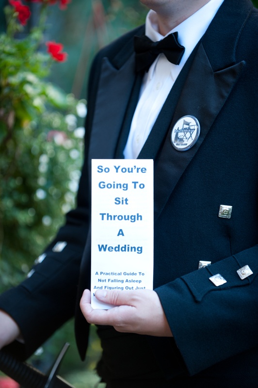 so youre going to sit through a wedding funny wedding program on offbeat bride
