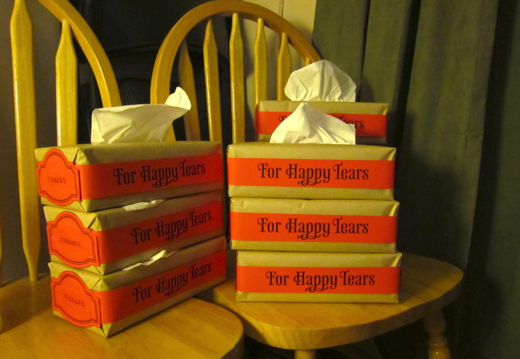 happy tears wedding tissues 19