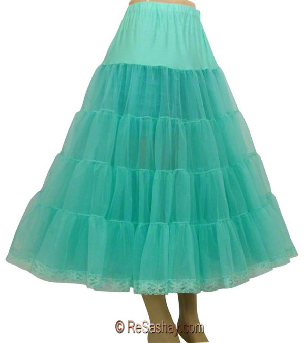 Organdy with lace petticoat