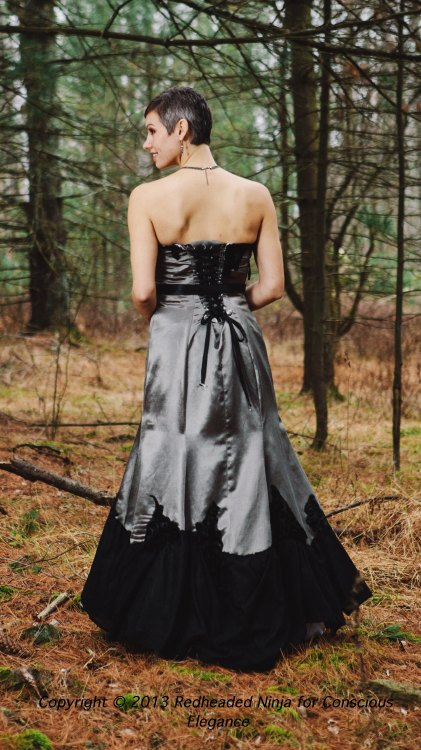 The Evelyn dress can be made in gray and black.