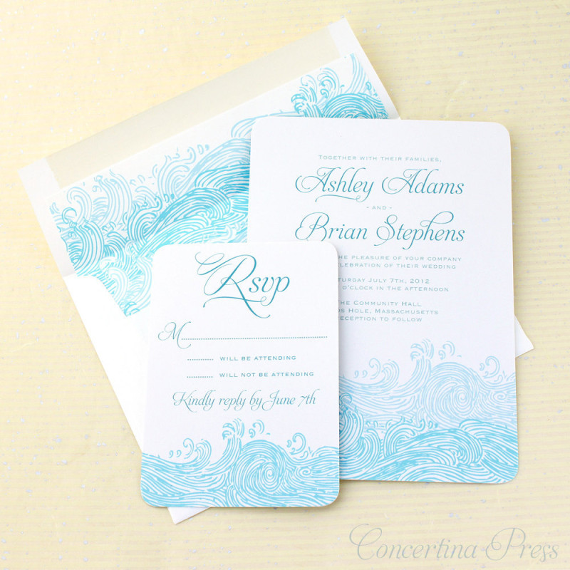 Holy hell, I want these Beach Waves invitations too!