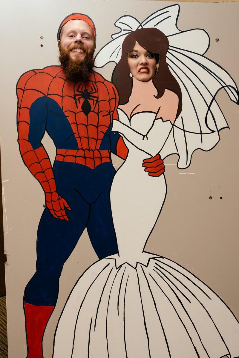 spider-man photo booth
