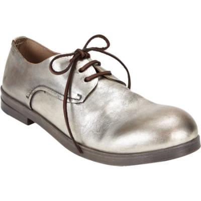 Metallic Plain-Toe Bluchers