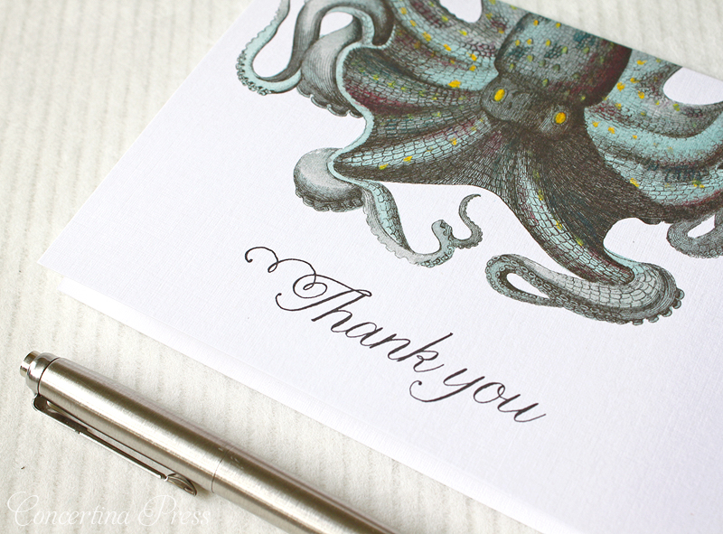Octopus Thank You Notes