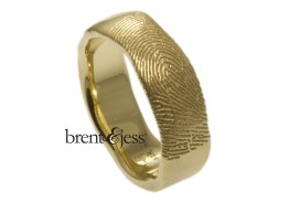 Organic edge ring with exterior print 14ky