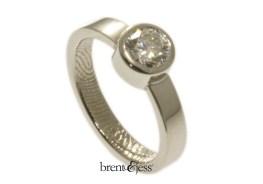 platinum engagement ring half carat 3mm band