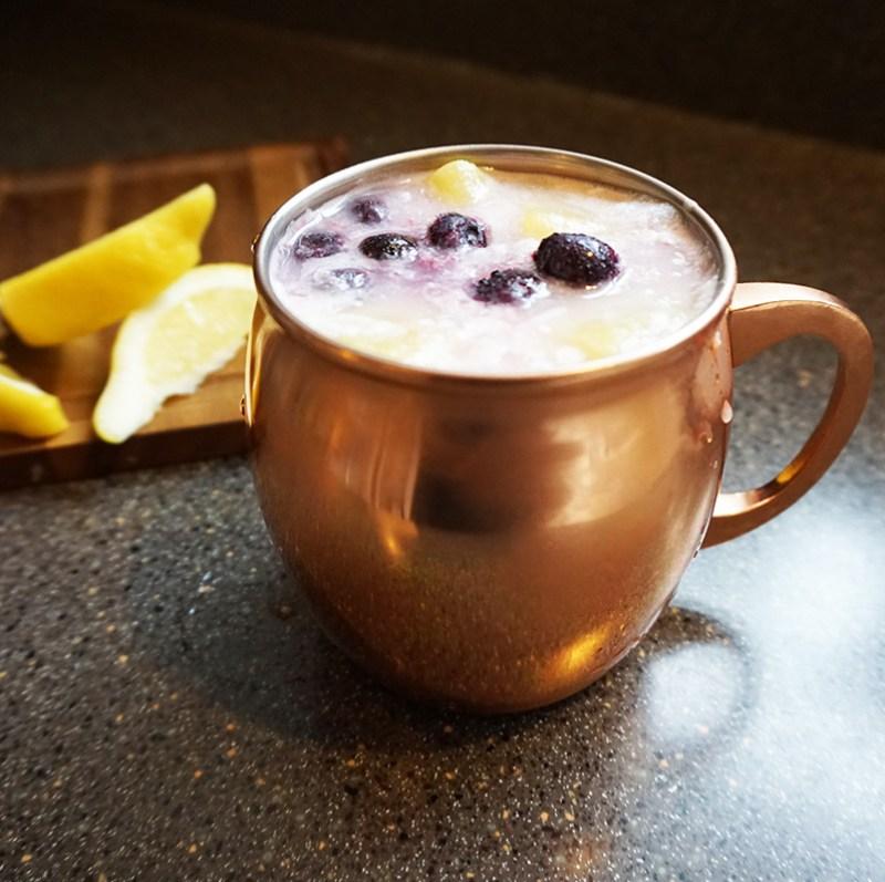 Lemon Blueberry Colada Mocktail from @offbeatbride