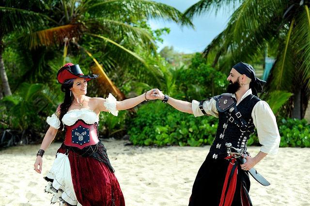 Pirate wedding in Puerto Rico on @offbeatbride