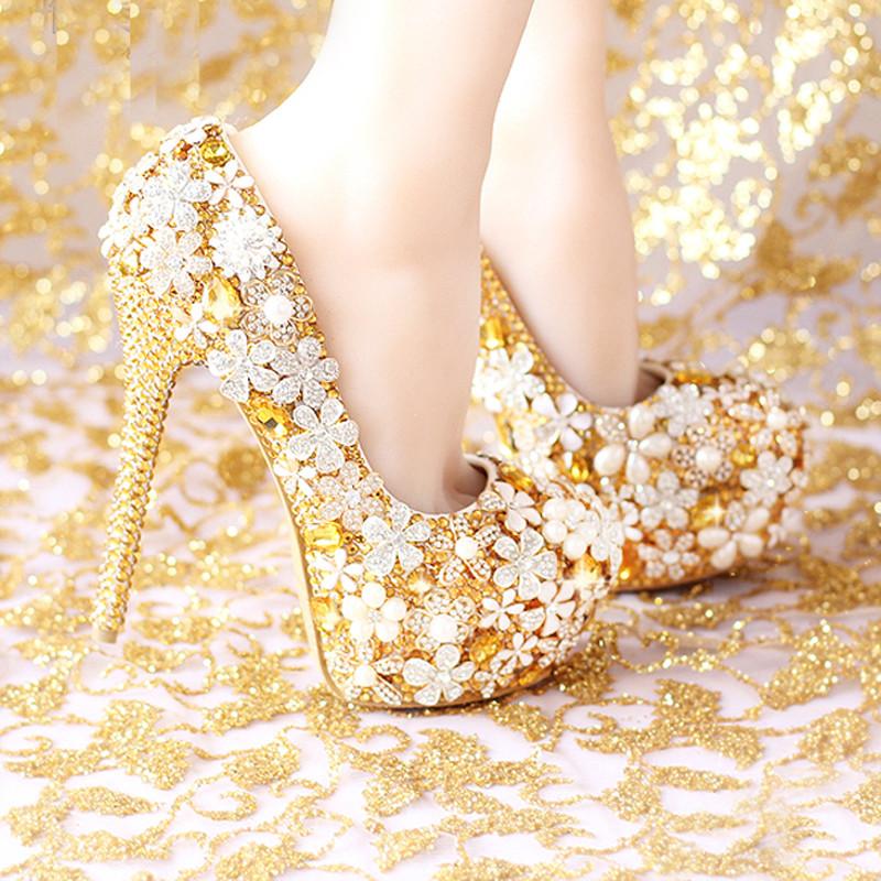 2015-Fashion-Comfortable-Gold-Wedding-Shoes-Women-Shoes-Platform-High-Heels-Rhinestone-Bridal-Shoes-Handmade-Genuine
