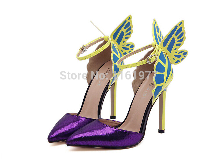 Valentin-Shoes-For-Women-Neon-Yellow-High-Heels-Butterfly-Shoes-Sexy-High-Heel-Prom-Shoes-Stiletto