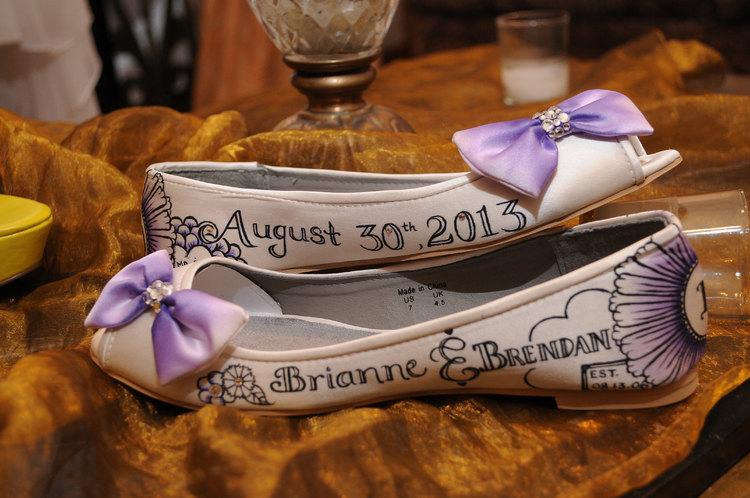 custom wedding flats on offbeat bride