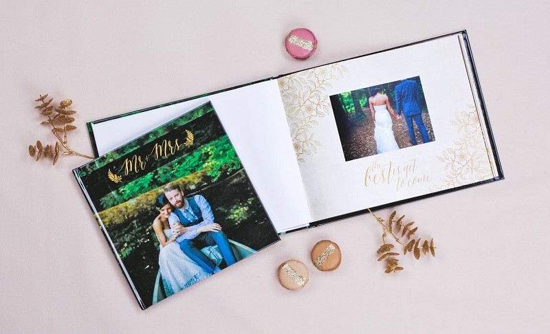 The gorgeous wedding albums that we've all come to know and love from Mixbook.