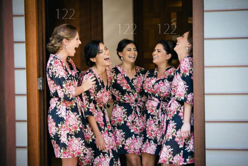 Bridesmaid robe sets as seen on @offbeatbride #wedding #bridesmaids #robes #kimonos