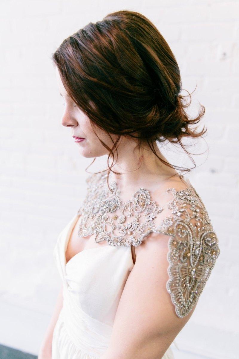 Wedding shoulder jewelry as seen on @offbeatbride