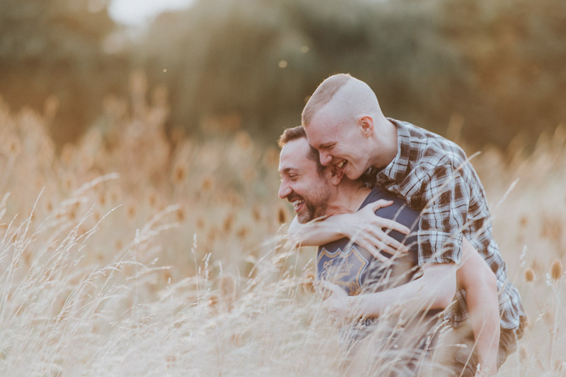 Taking off the makeup to reveal this gorgeously simple couples shoot