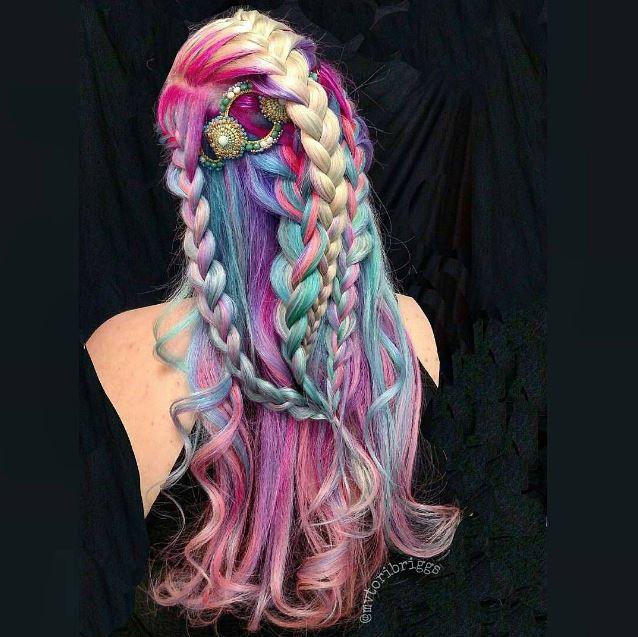 Freaking amazing hair by Tori Briggs, ambassador of The Unicorn Alliance.