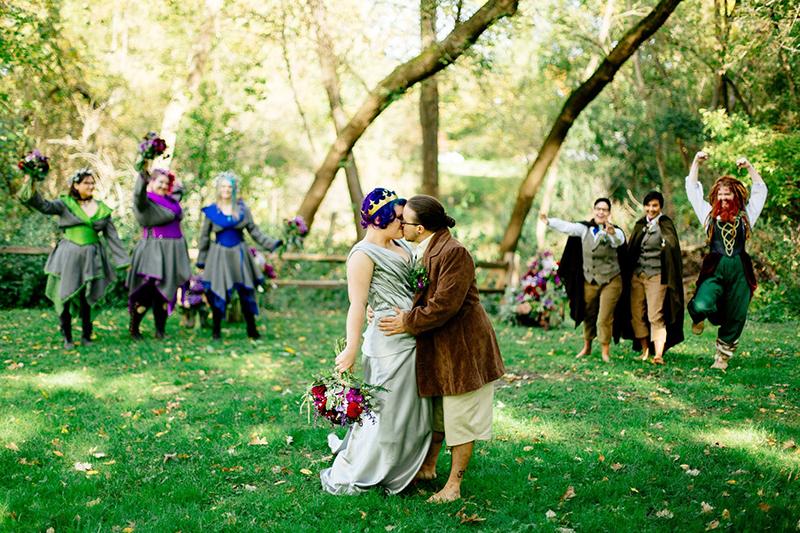 Barefoot Hobbit-themed wedding