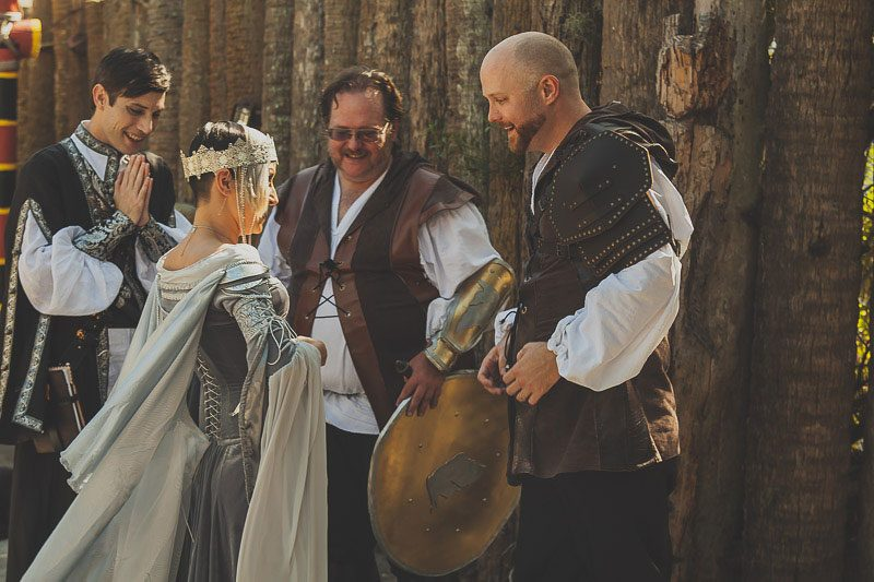 Prepare to squeal at the ARMORED corset dress at a fantasy wedding