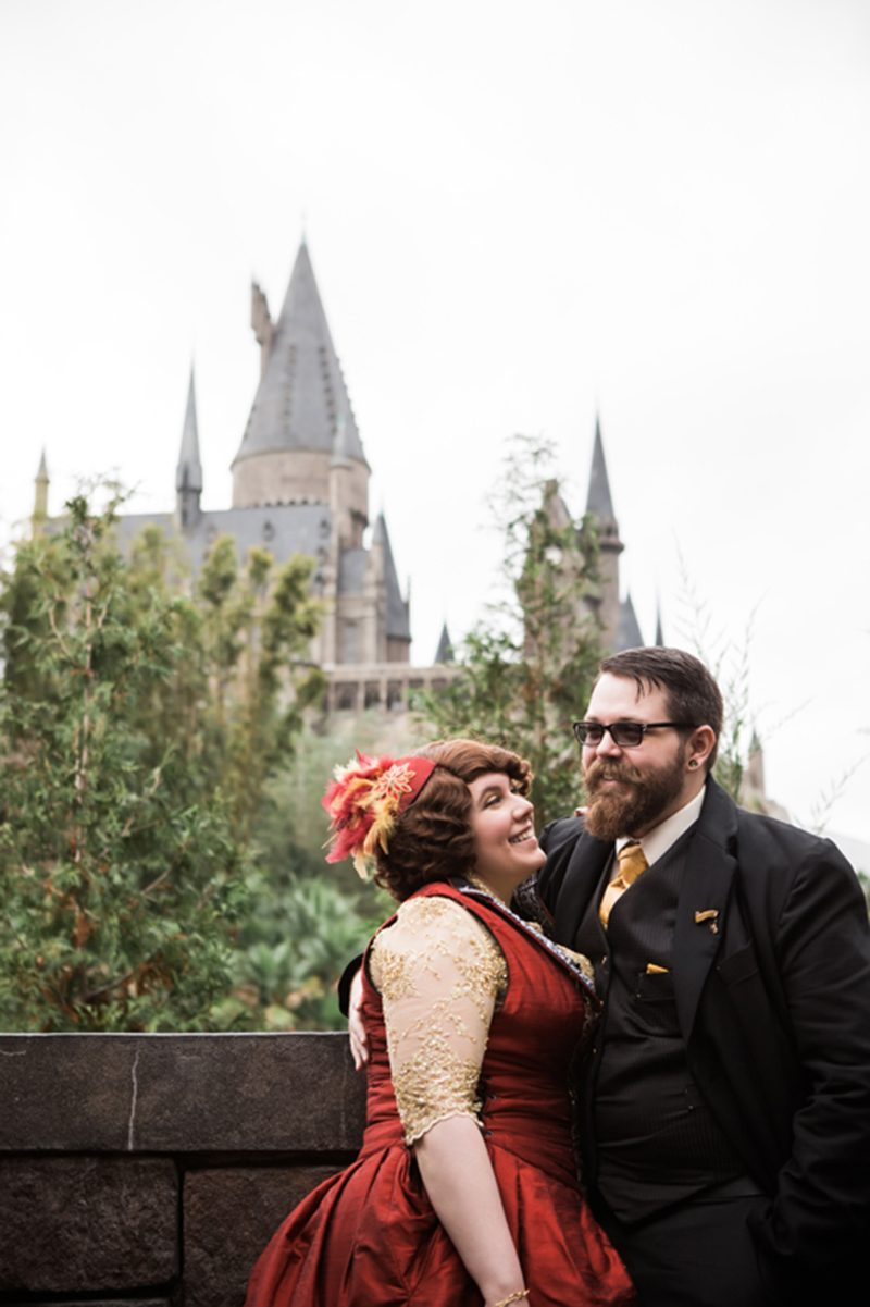 A guerrilla-style Harry Potter Wizarding World wedding (with handmade outfits!)