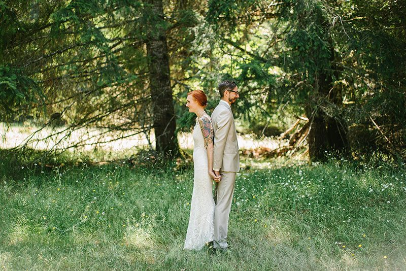 Bask in the glow of this rustic Olympic National Park wedding