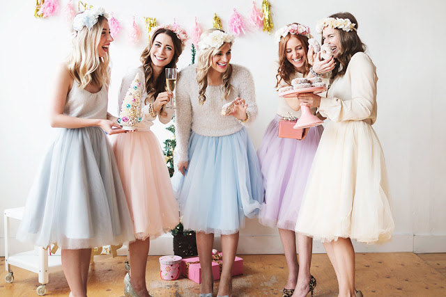 You CAN wear this again: the bridesmaid tulle skirt look we heart