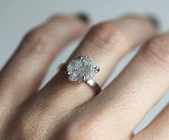 Granola glam: these natural diamond engagement rings will blow your mind