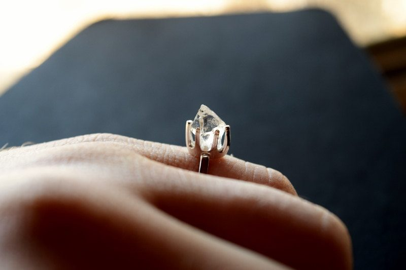 Granola glam: these raw diamond engagement rings will blow your mind