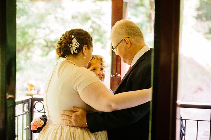 train wedding