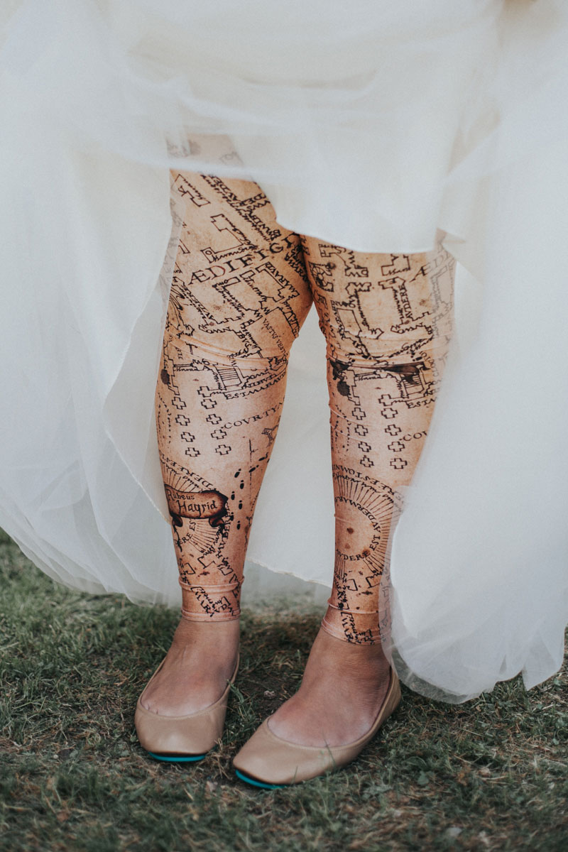 This geek chic wedding was Disney meets Harry Potter meets horror (with pin trading!)