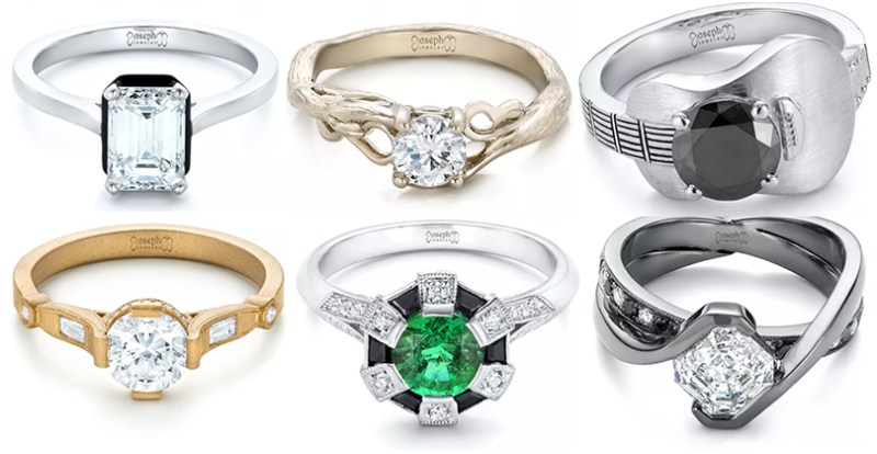 The most non-basic engagement rings you won't find at the mall