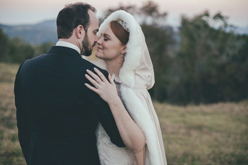 Lanterns, swords, and romance at this Aussie wedding