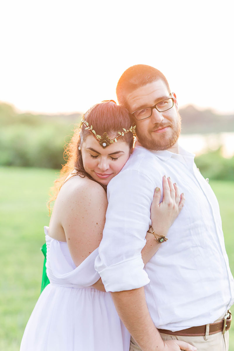Find your favorite fandom in this sci-fi and fantasy wedding in Maryland