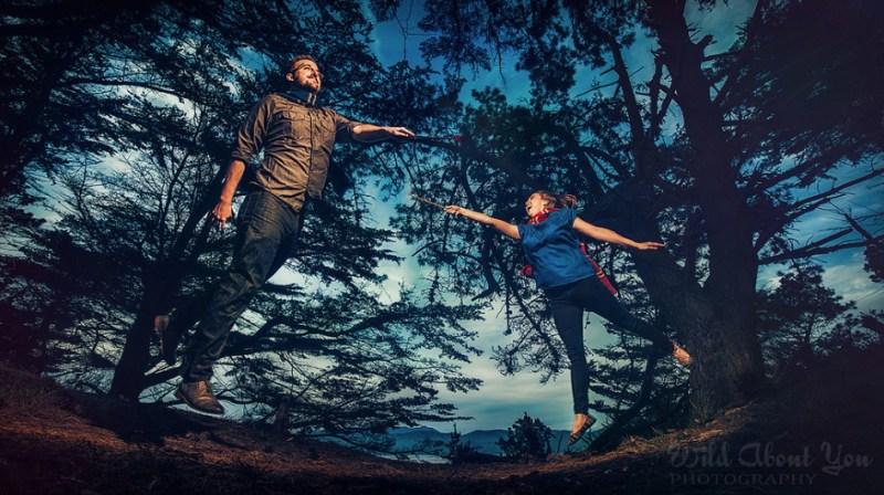 alternative and offbeat engagement photo ideas