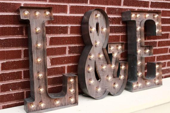 light-up wedding signs