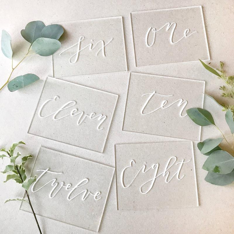 acrylic wedding signs
