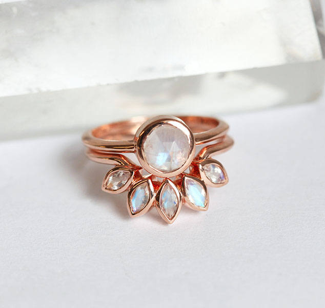 moonstone wedding rings might be your new obsession
