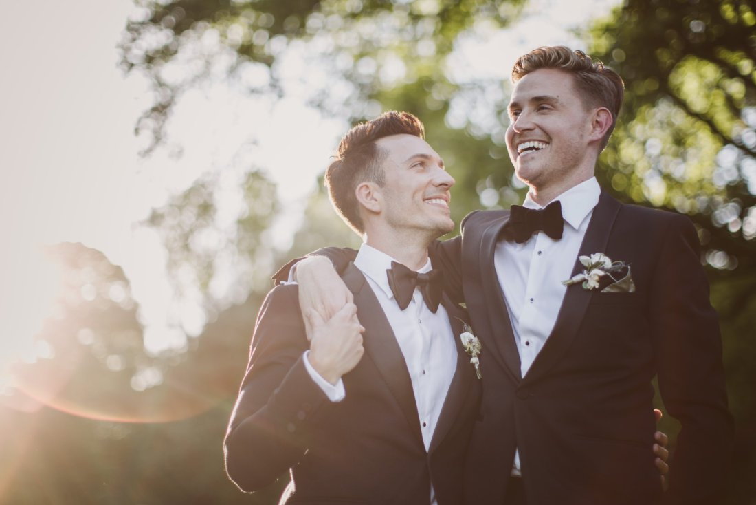 Crowley Manor wedding: Get ready to weep at the emotional speeches from these two stunning grooms