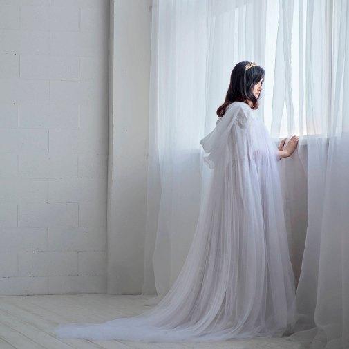Ethereal bridal cloak by Wardrobe By Dulcinea