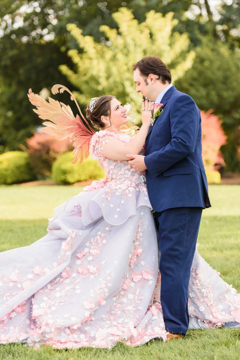 Doctor Who meets fairies and anime at this geeky swords and wands wedding