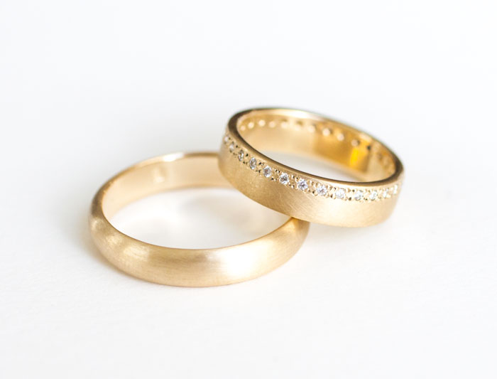 Totally custom & sustainable wedding rings? Oh it's possible and easy with W.R. Metalarts