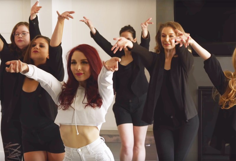 This dancer bride cast her bridesmaids in a bachelorette party music video