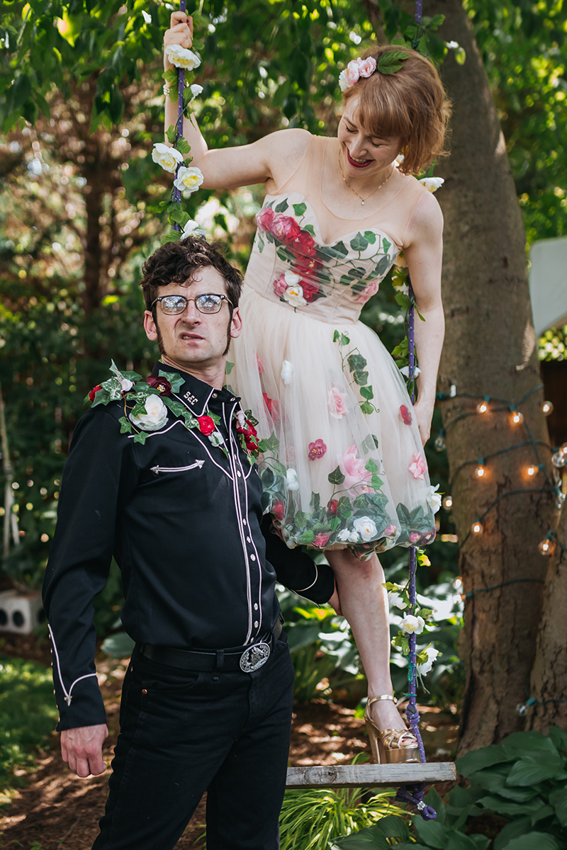 This wedding was all about fairy garden meets Godzilla realness