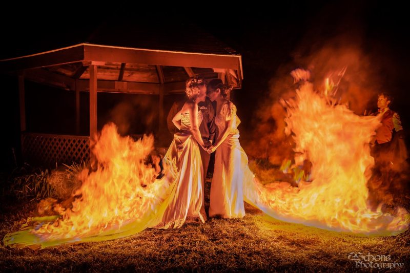 The hottest wedding ever: a fire & performance themed wedding