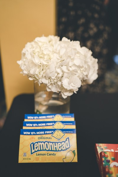 Old Hollywood glittery glam reigns at this retro theater wedding