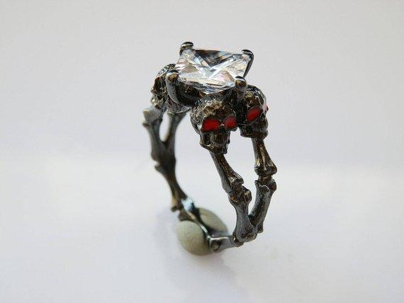 Halloween engagement rings